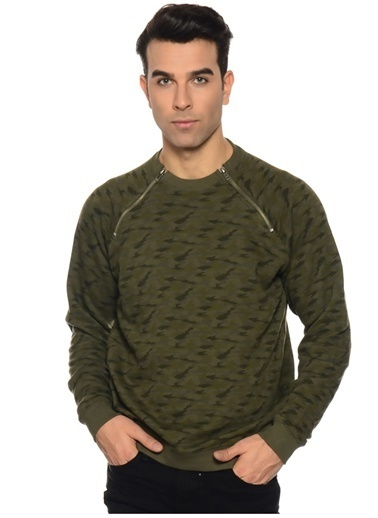 Casual Friday Sweatshirt Yeşil